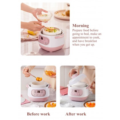 [Malaysia ready stock] Multifunction Electric Slow Cooker Electric Food Steamer Heating Cup Water-Proof Stew Hot Pot Food Cooker 220V