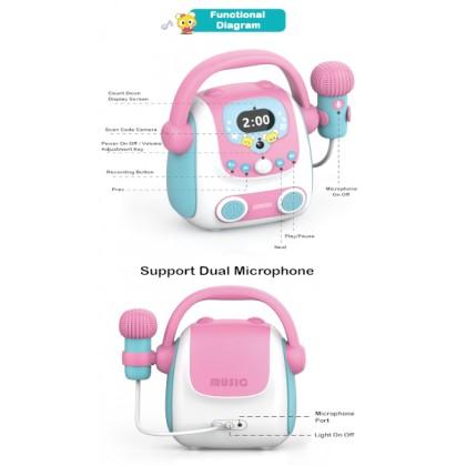 [Ready Stock] Microphone Karaoke Bluetooth Speaker Toy Portable Karaoke Machine Developmental Music Educational Toys For Kids Gift